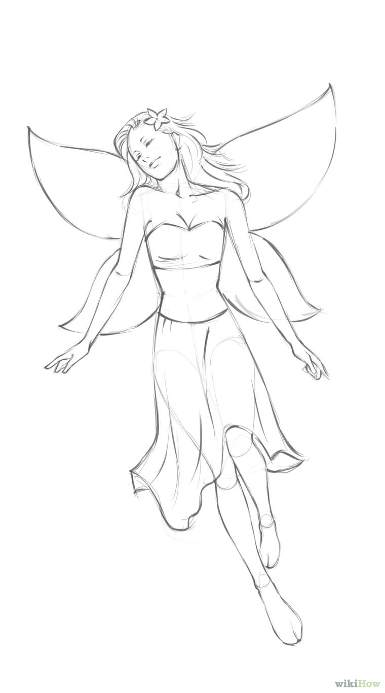 760x1366 How To Draw A Simple Fairy 8 Steps (With Pictures)