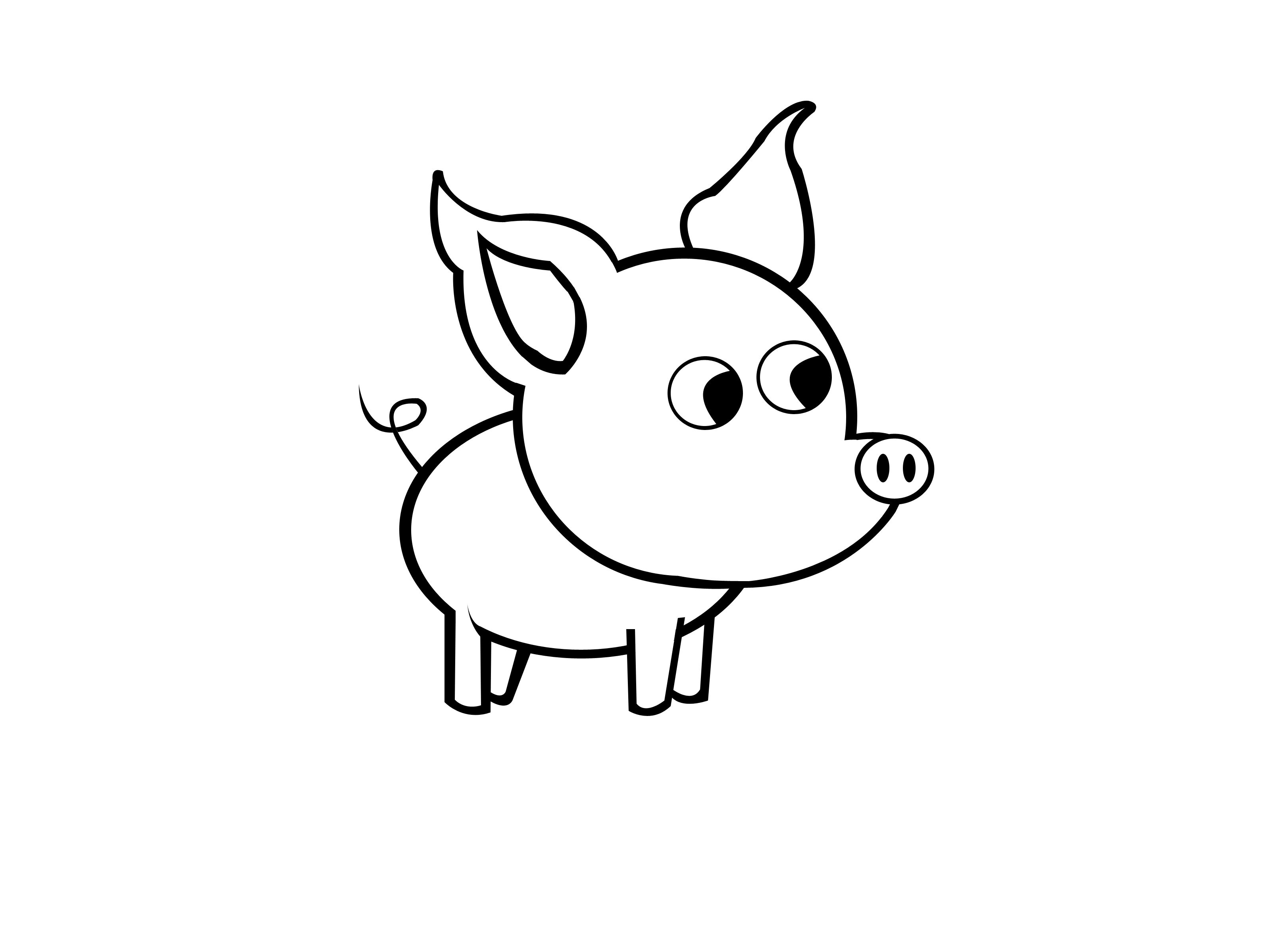 3200x2400 Simple Pictures For Drawing How To Draw A Simple Pig 9 Steps (With