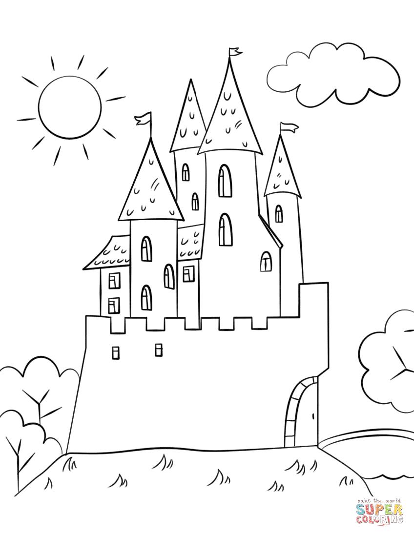 848x1098 Cartoon Castle Drawing Cartoon Castle Drawing 4 Ways To Draw