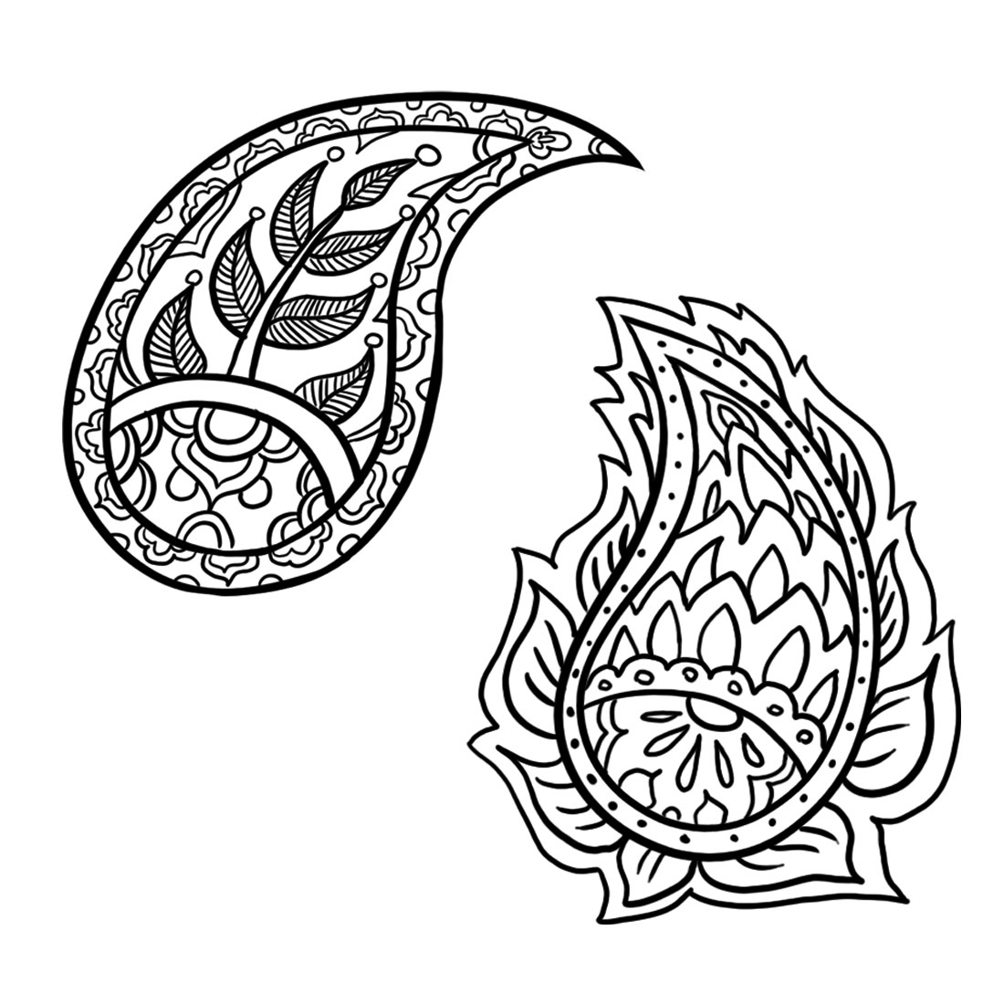 1100x1100 Cool Simple Drawing Designs How To Draw A Paisley Design 6 Steps