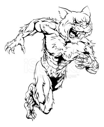 361x440 Wildcat Sports Mascot Running Stock Vector