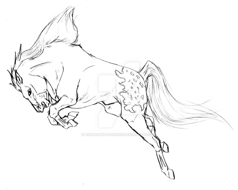 900x721 Bucking Mustang By Arabis Wild Horses
