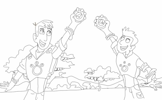 640x397 Wild Kratts Coloring Pages To Print