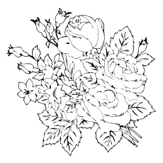 230x230 Top 25 Free Printable Beautiful Rose Coloring Pages For Kids