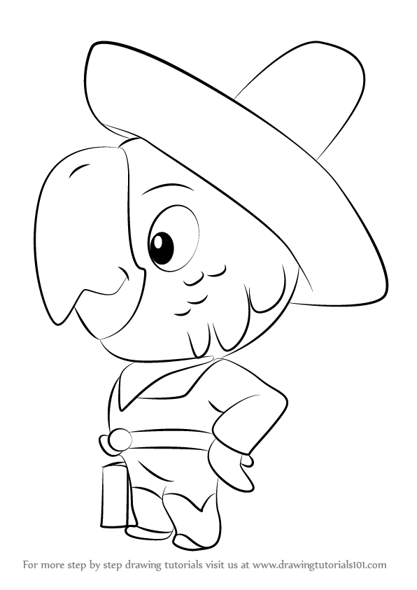 596x843 Learn How To Draw Parroting Pedro From Sheriff Callie's Wild West