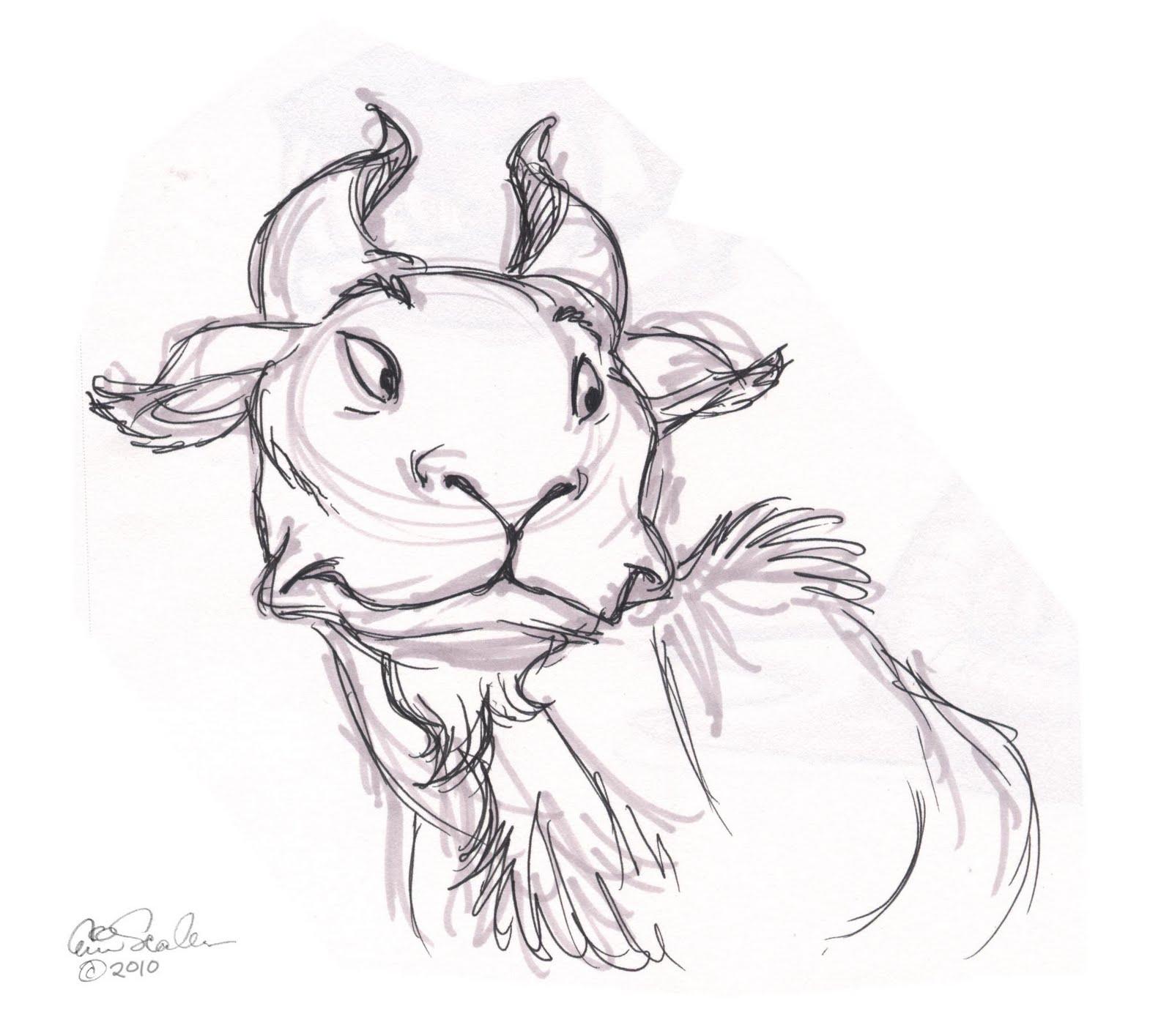 1600x1415 The Ol' Sketchbook Wildebeest Ala Sanders