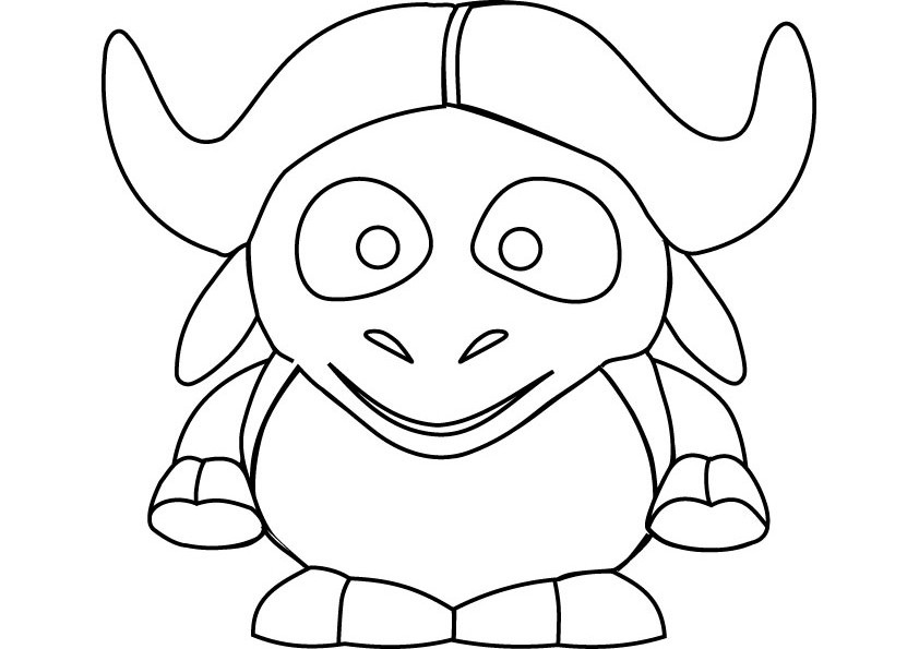 842x595 Wildebeest Coloring Pages To Print