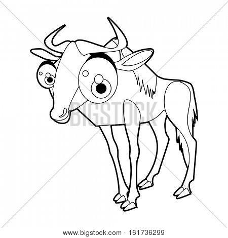 450x470 Wildebeest Images, Illustrations, Vectors
