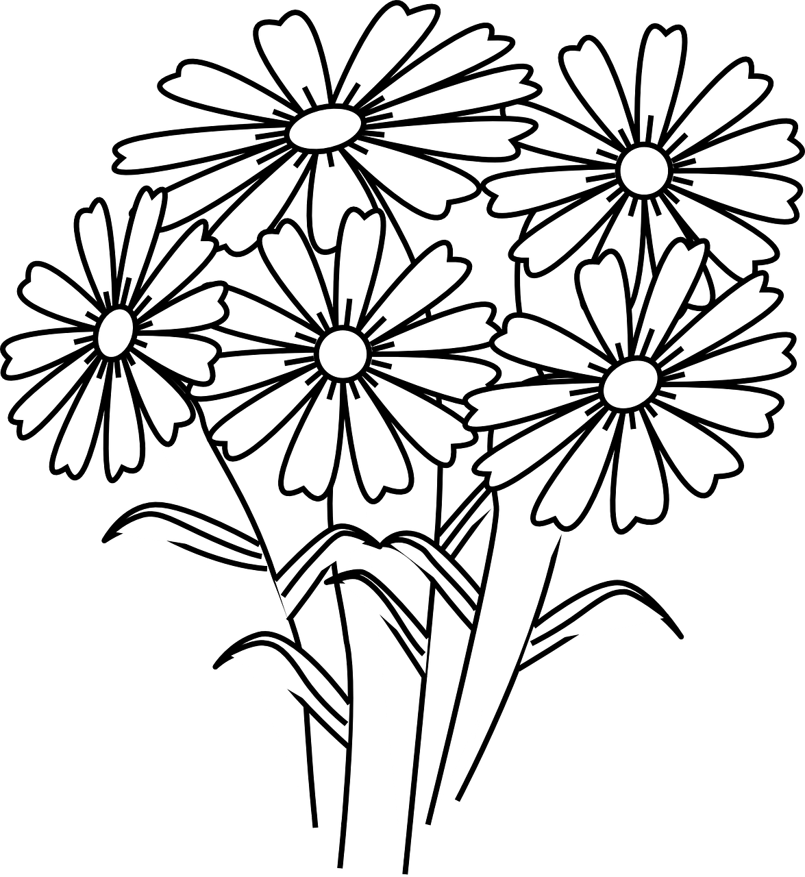 1175x1280 Printable Wildflower Coloring Pages Page For Kids