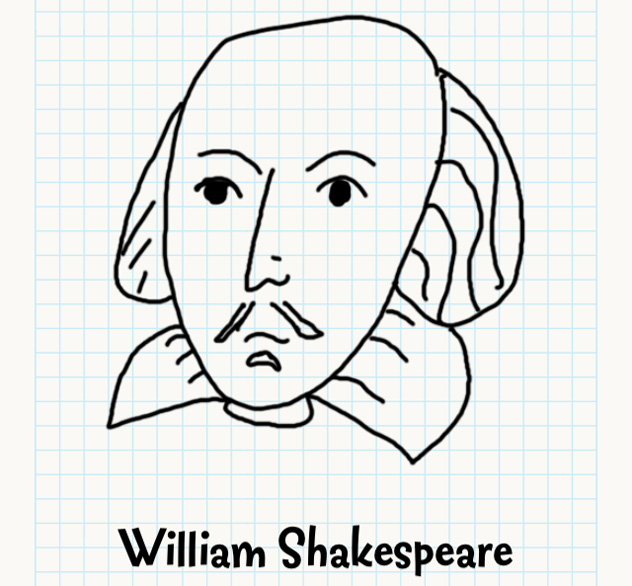 632x586 William Shakespeare Badly Drawn Faces Answers, Walkthrough, Cheats