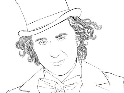 400x300 Gene Wilder Willy Wonka By Laura Serra
