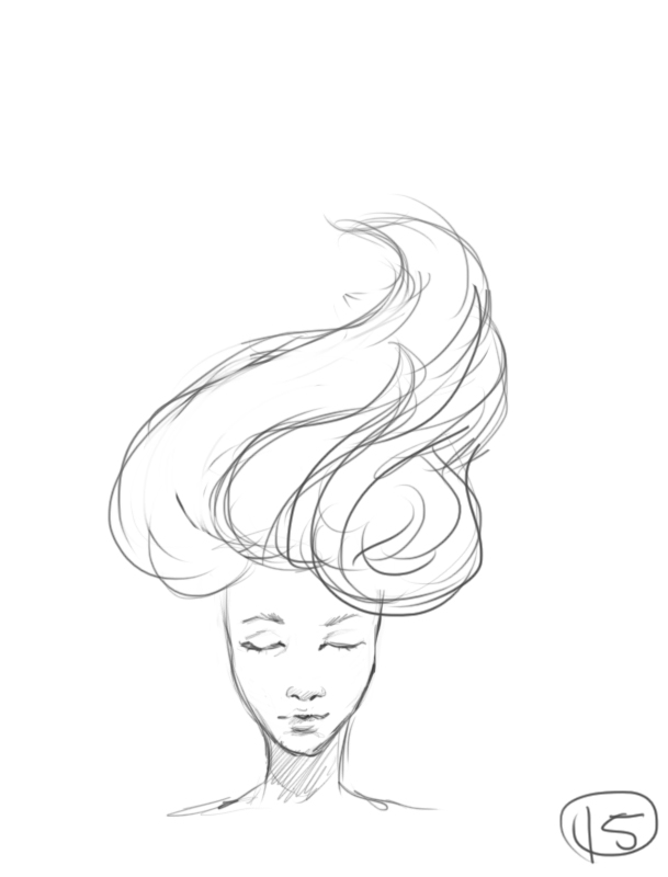 609x800 Hair Blowing In The Wind Animation Wip By Kedostini