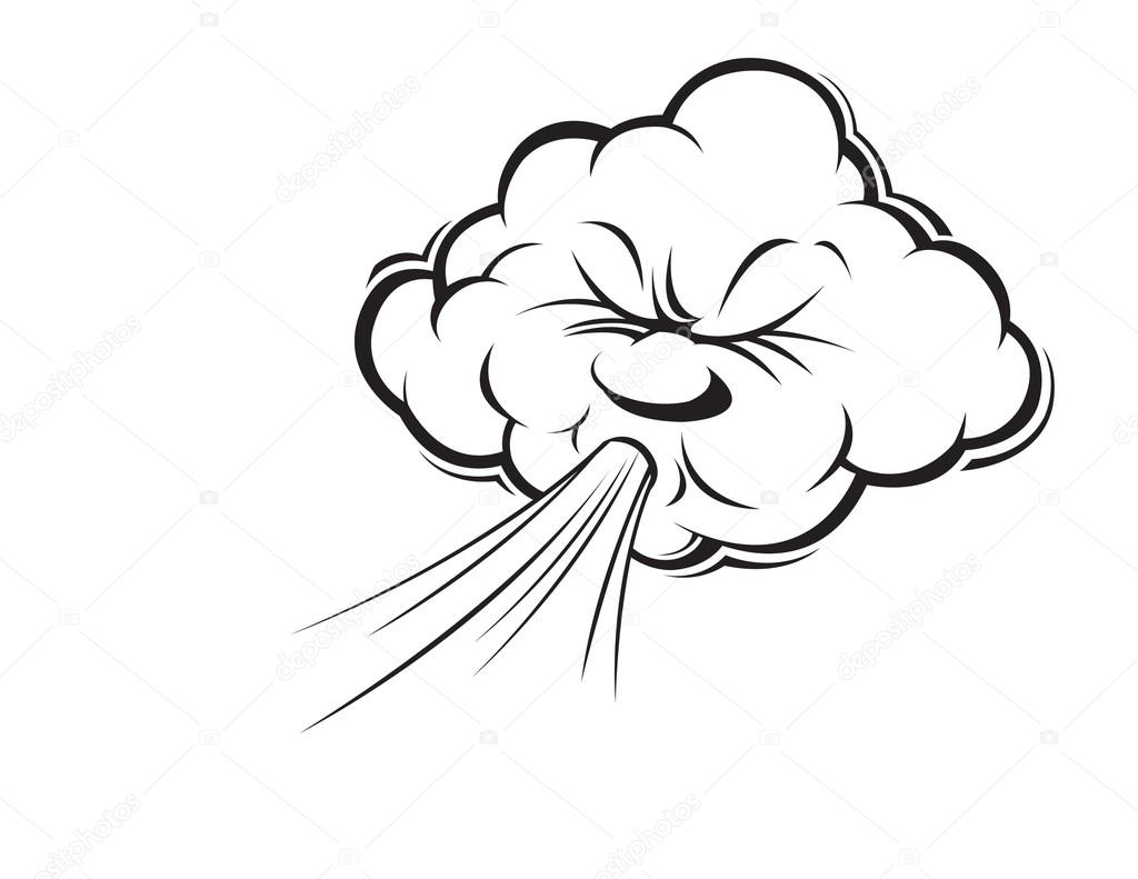 1024x791 Cartoon Blowing Wind Stock Vector Slipfloat