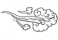 200x140 Lovely Cartoon Wind Gust Wind Drawing