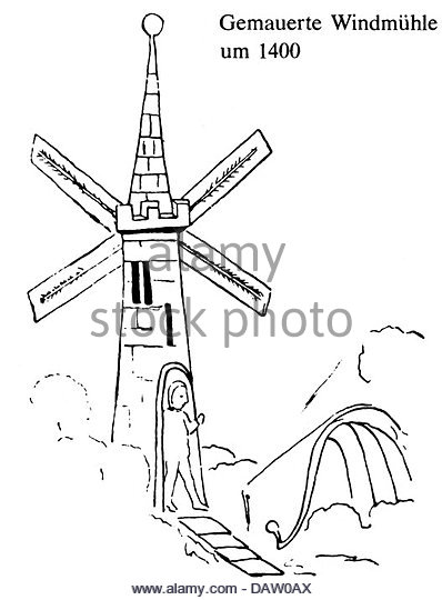 398x540 Windmill Drawing Stock Photos Amp Windmill Drawing Stock Images