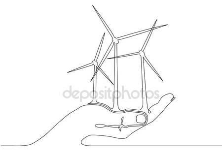 450x321 Wind Turbines Alternative Energy Stock Vector Derplan13