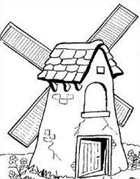 200x256 Free Windmill Drawings Clipart
