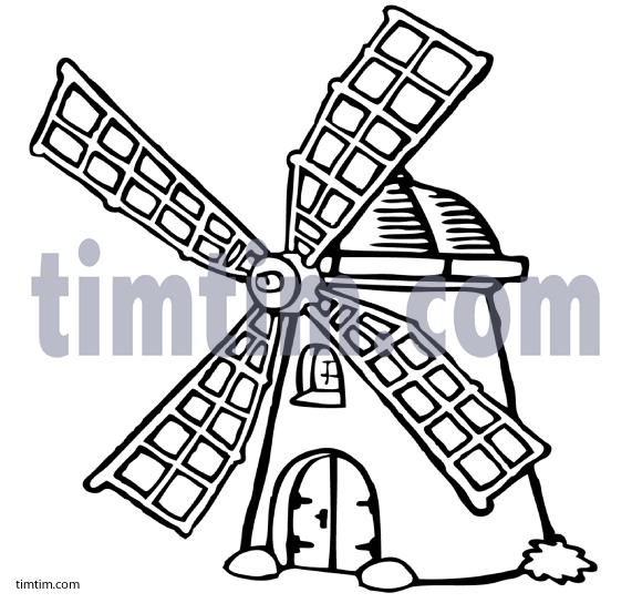 571x544 Free Drawing Of A Danish Windmill Bw2 From The Category History