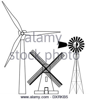 300x337 Modern Windmill Drawing Stock Photo 115721400