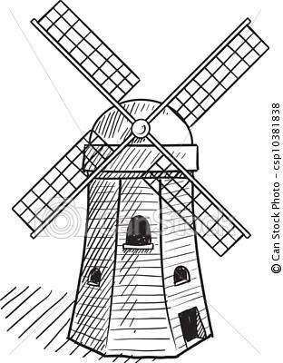 312x400 Simple Dutch Windmill Dutch Clip Art Windmill