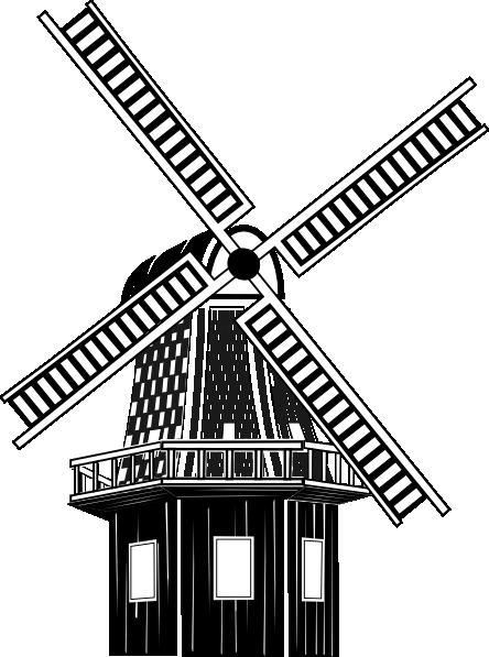 444x597 Windmill Clip Art