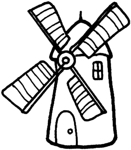 418x480 Windmill Coloring Page Free Printable Pages
