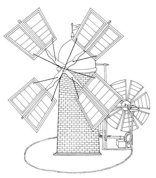 524x600 Edmund Lee's Self Regulating Windmill Including Fantail