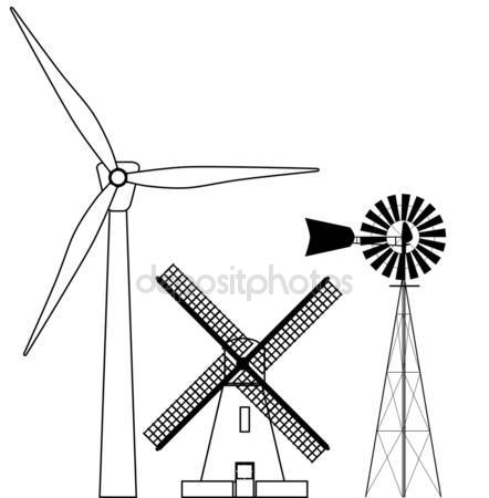 442x450 Wind Power Stock Vector Bigalbaloo