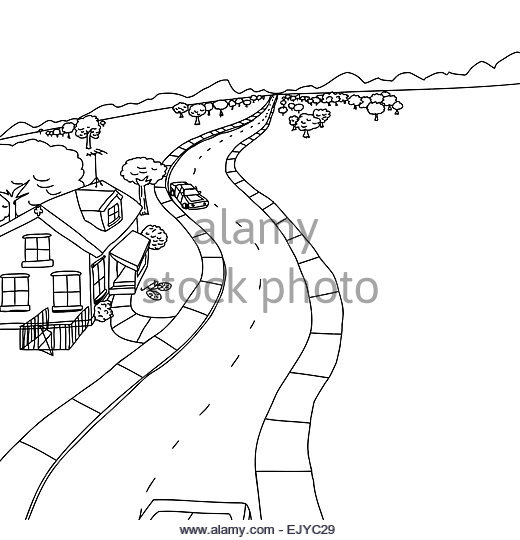 520x540 Hand Drawn Cartoon Winding Road Stock Photos Amp Hand Drawn Cartoon