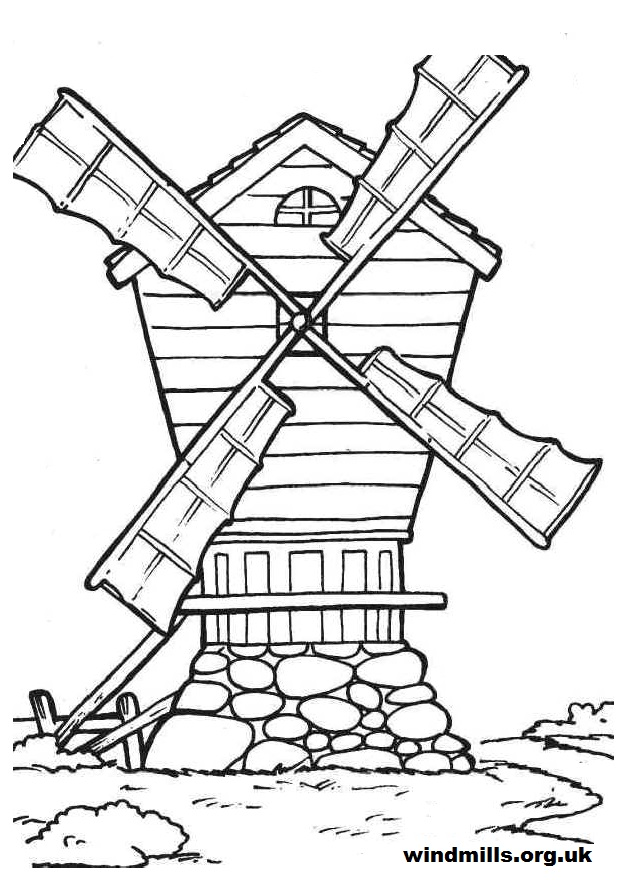 633x880 Colouring Pictures Windmills