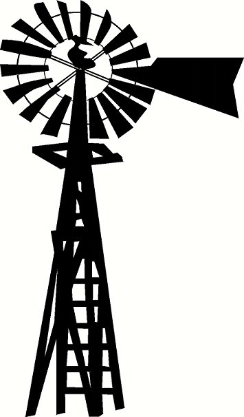 Line Drawing Windmill : Windmill silhouette vector free at getdrawings