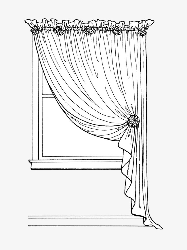 650x871 Hand Painted Curtain, Curtain, Decoration, Hand Painted Png