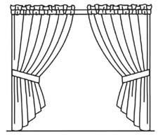 225x198 drawn curtains