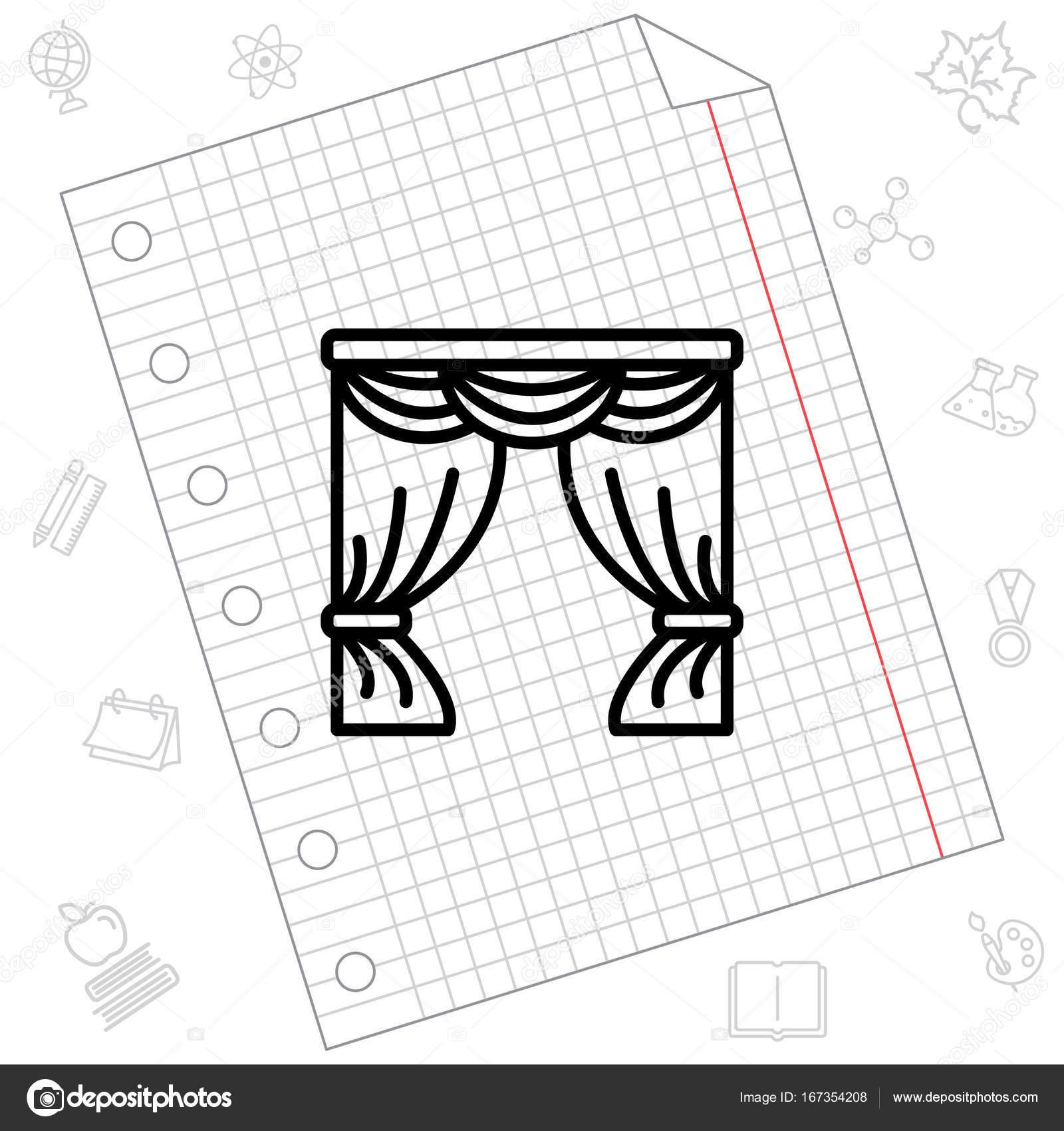 1600x1700 icon. Window curtain — Stock Vector © PPVector