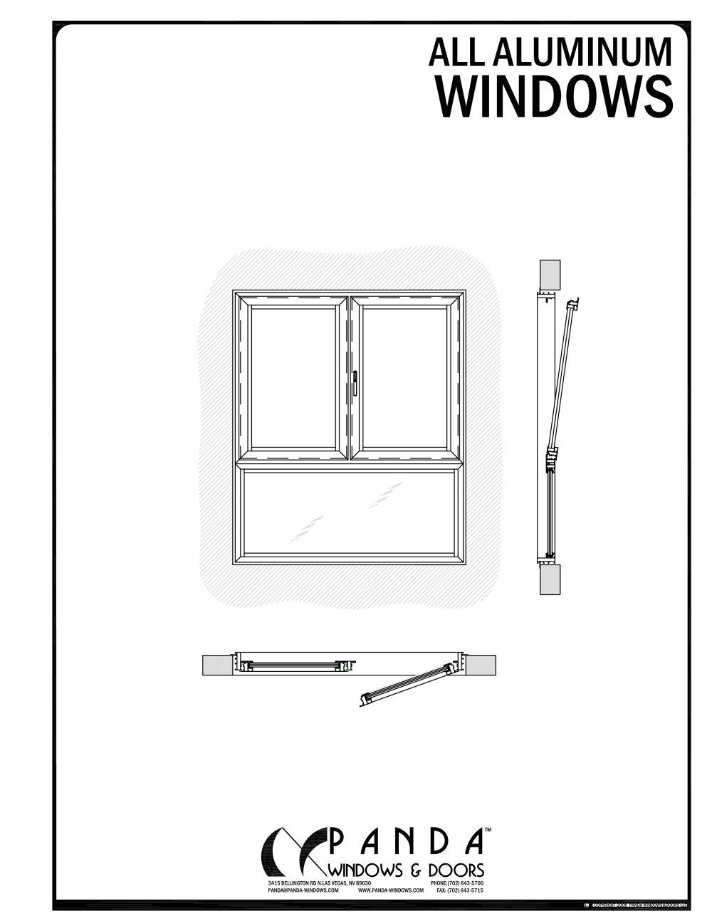 1000x1294 Aluminium Windows