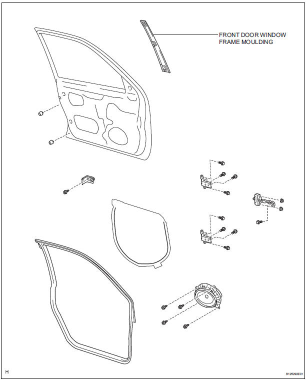 612x760 Toyota Sienna Service Manual Front Door Window Frame Moulding