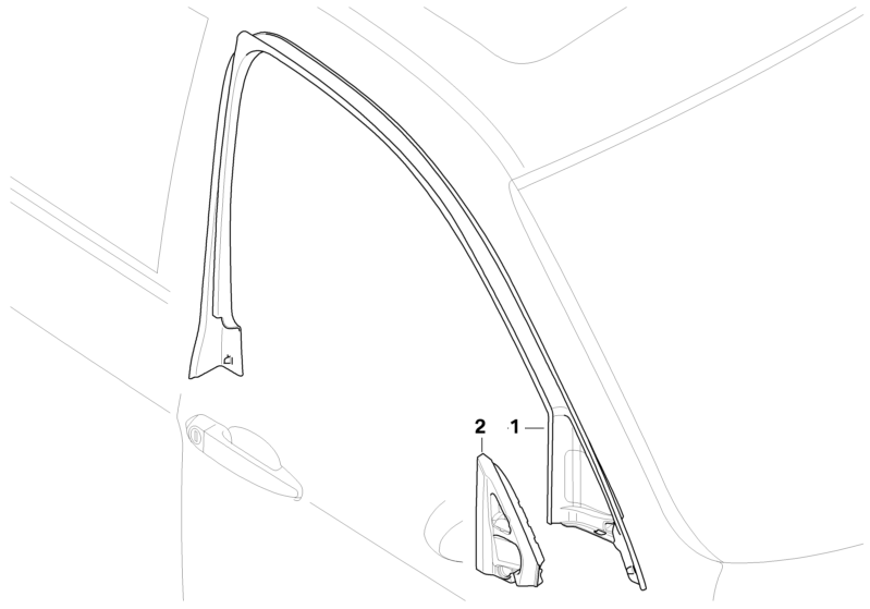 799x559 Bmw Genuine Front Right Door Window Frame Top Trim Surround E90