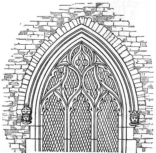 500x490 Gothic Windows Line Drawing Torus A Pronounced Convex Sibir