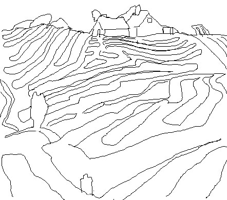 442x390 Line In The Visual Arts Line Drawing Of Woods' Painting Edsitement