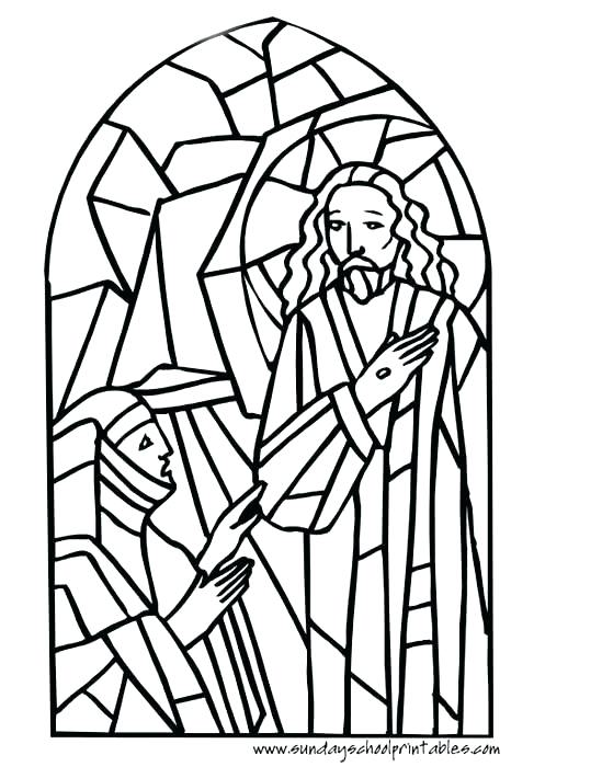 549x700 New Stained Glass Window Coloring Pages Online Windows Religiou