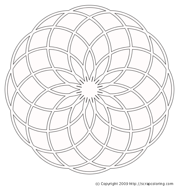600x630 Rose Window Coloring Page