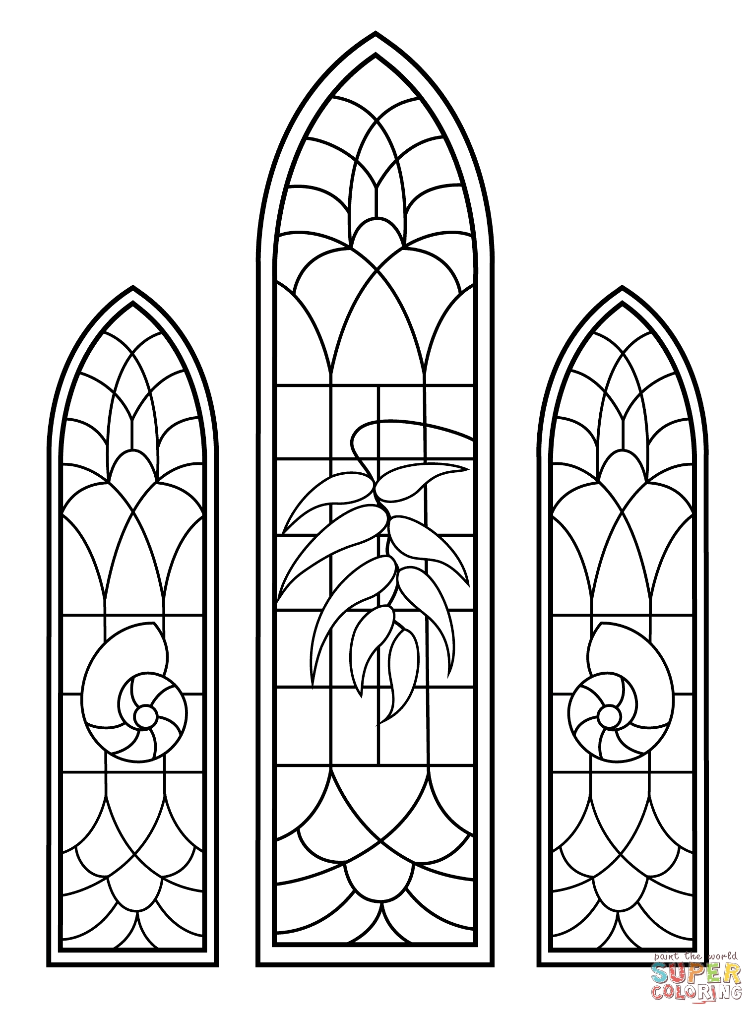 1520x2046 Stained Glass Window Coloring Pages Collection