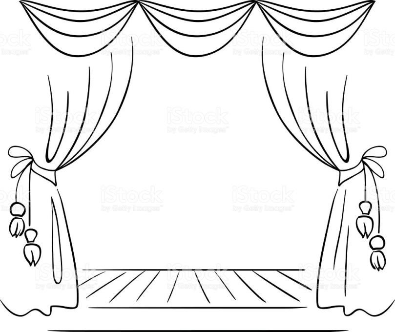 809x680 Curtains Theater Theatre Stage Design Drawings A Lights And