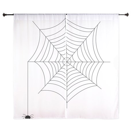 460x460 Spider Web Window Curtains amp Drapes, Spider Web Curtains for Any
