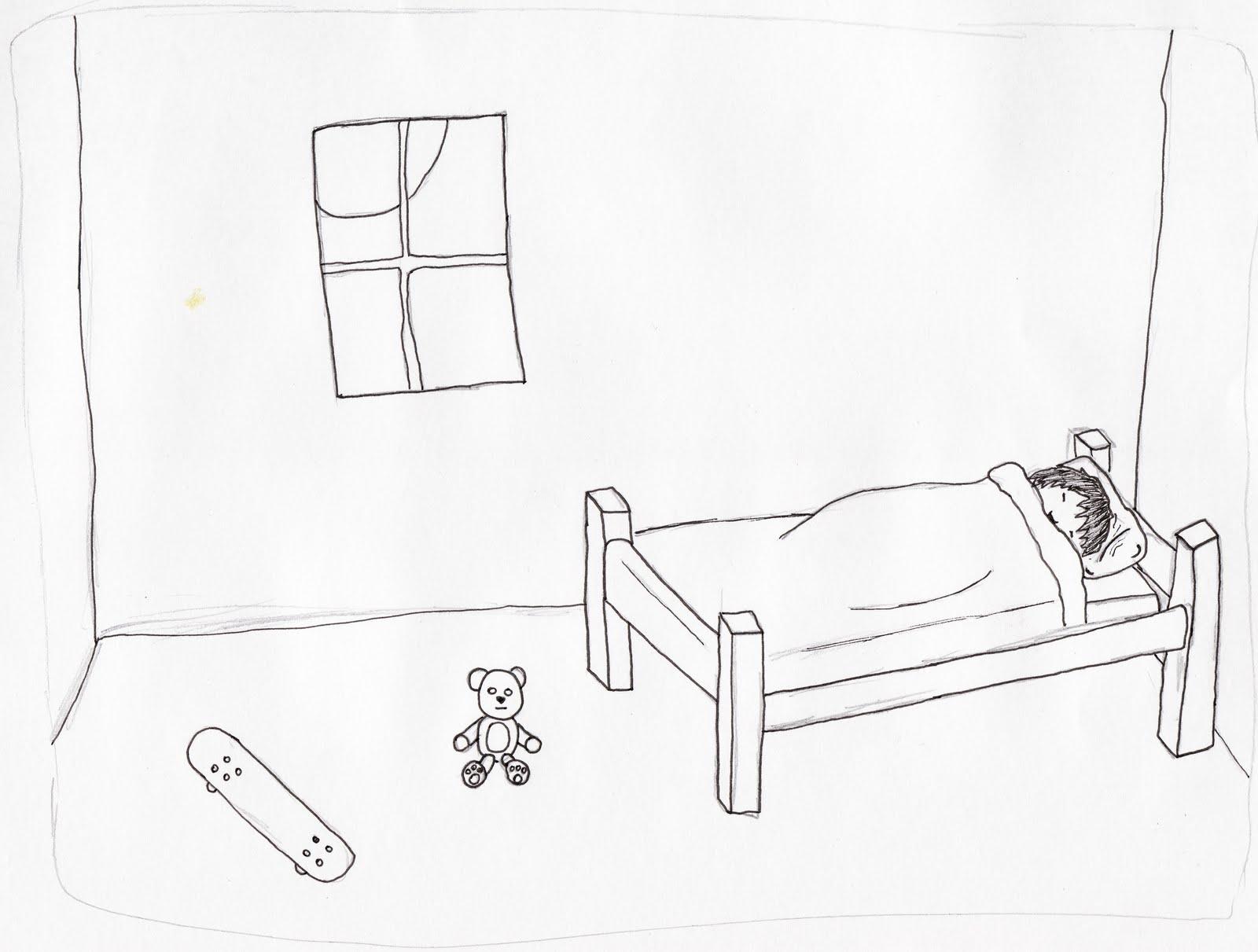1600x1211 3rd Year Billys Bedroom Sketch