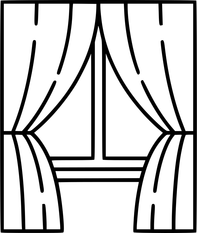 Window With Curtains Drawing at GetDrawings.com | Free for personal ... for Window With Curtains Drawing  45hul