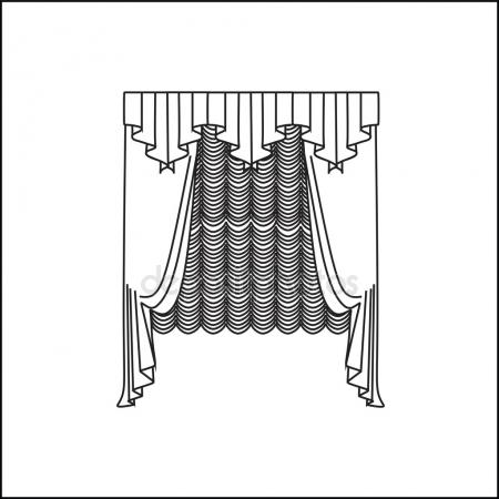 450x450 Bedroom curtains Stock Vectors, Royalty Free Bedroom curtains