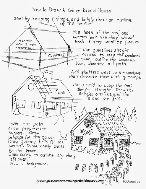 494x640 How To Draw Worksheets For The Young Artist Holiday. Gingerbread