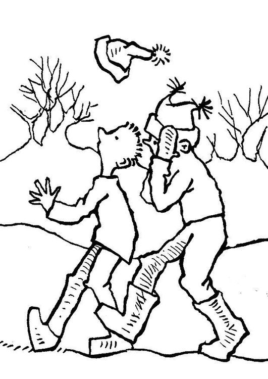 531x750 Coloring Page Windy Day