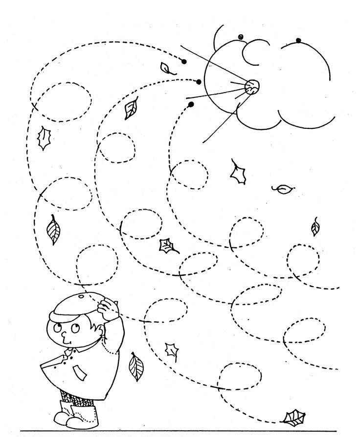 736x892 Fall Windy Day Line Worksheet For Kids